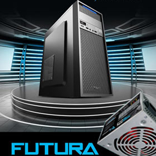 ALCATROZ PC CASE WITH PSU 450W FUTURA BLACK N2000 BLACK